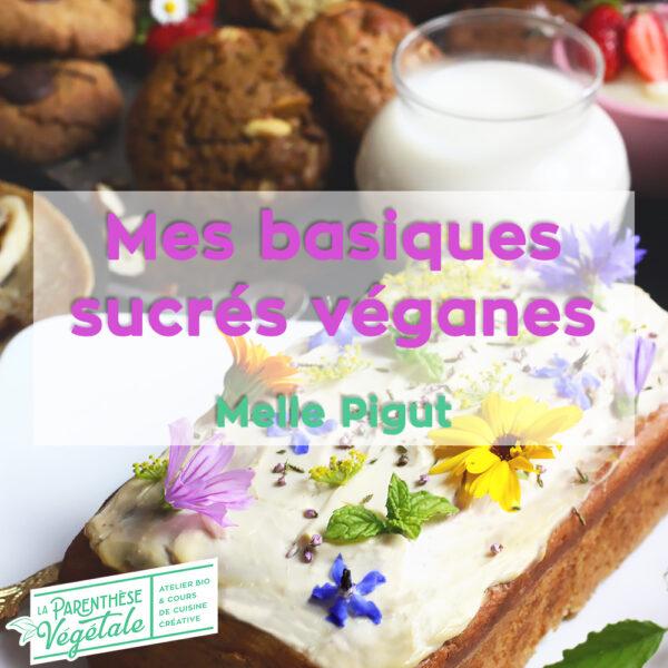 Cours de cuisine desserts véganes