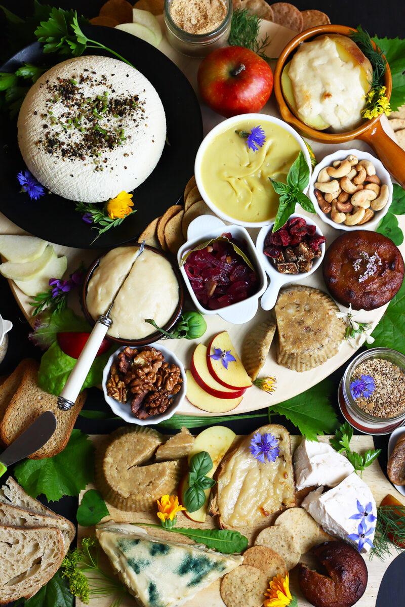 Plateau de fromages végétaux