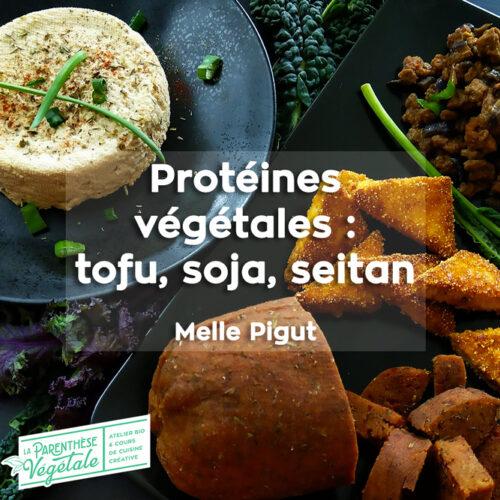 Formation en ligne Protéines végétales - tofu soja seitan