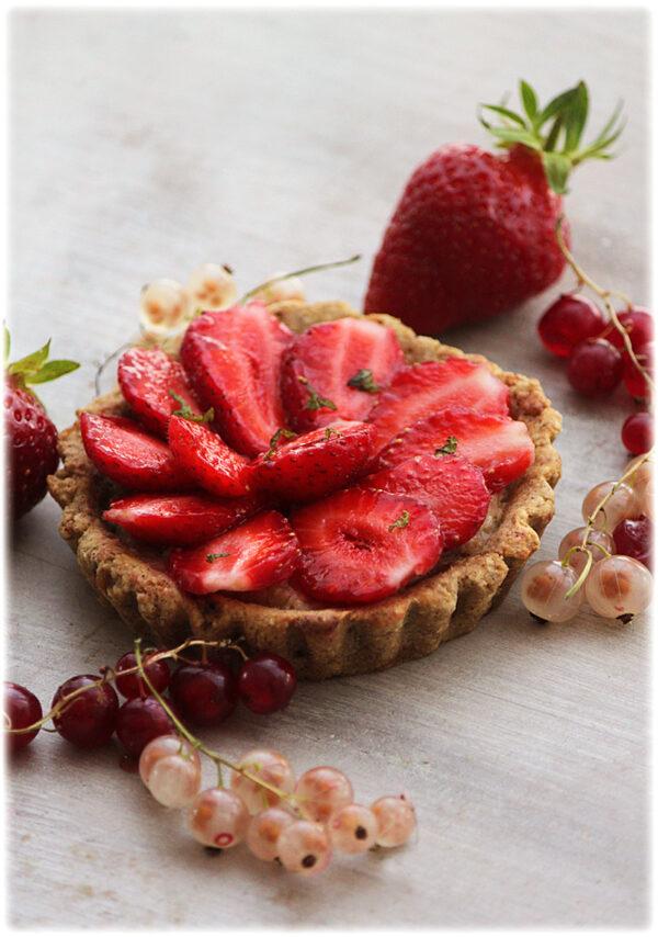 Tarte aux fraises végane