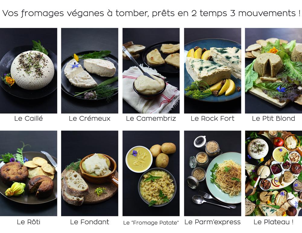 Fromages véganes maison de La Parenthèse Végétale