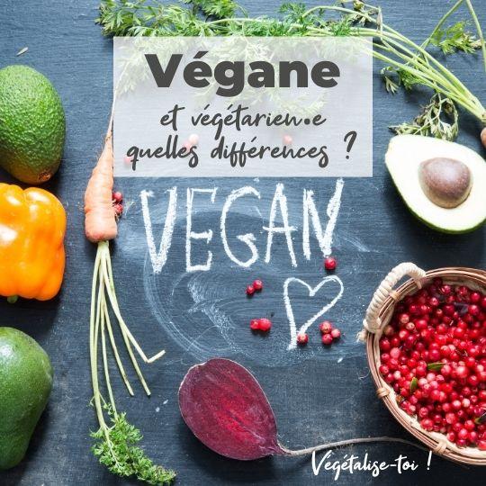 Végétarien et vegan quelles différences